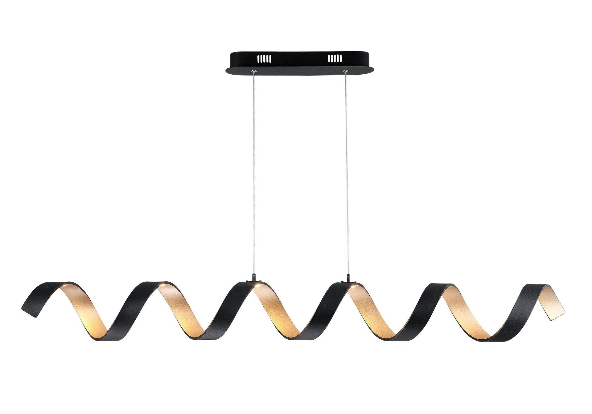 Best Price BLACK AND GOLD SPRING PENDANT LAMP Wholesale