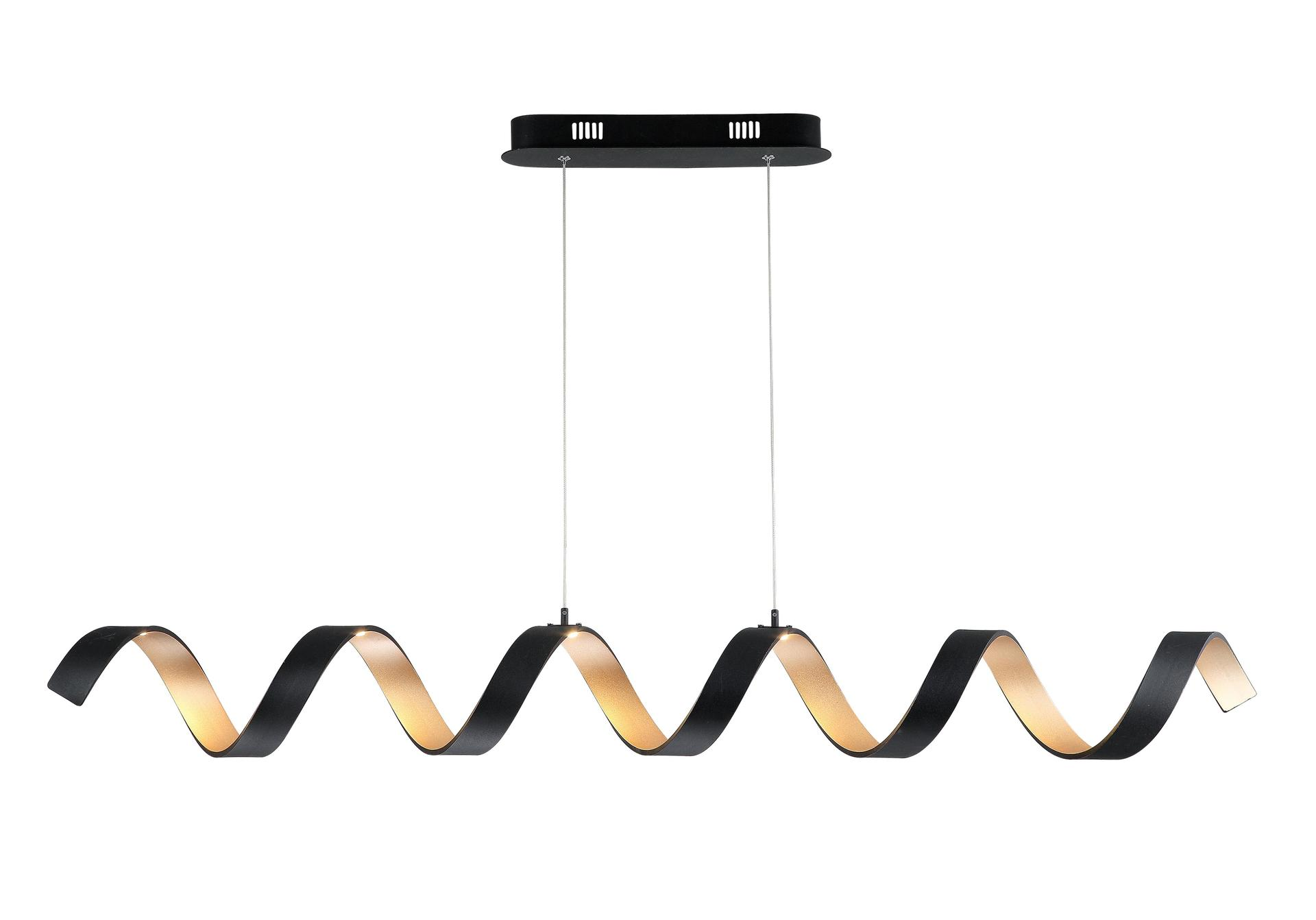 BLACK AND GOLD SPRING PENDANT LAMP